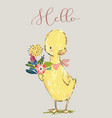 cute little duck vector image