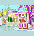 digital painting of kamenetz-podolsky town vector image