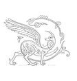 griffin fantasy monster creature medieval style vector image