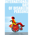 International Day of Persons with Disabilities Man vector image