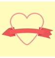 outline heart and curved arrow-ribbon icon vector image