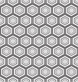seamless monochrome pattern hex vector image