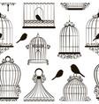 vintage bird cages pattern vector image