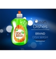 kitchen dish wash ad product package vector image