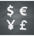 Chalkboard Money Signs vector image