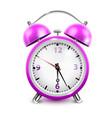 purple alarm clock vector image