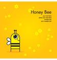 honey bee icon vector image