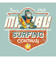 Cute gorilla surfer vector image
