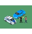 Isometric Police Fines Car design Flat Isolated vector image