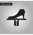 black and white style icon shoes discounts vector image