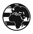 Globe Rainbow black simple icon vector image