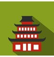 Pagoda flat icon vector image