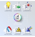 Science Colored Infographic vector image