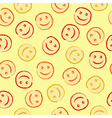 Happy face pattern vector image