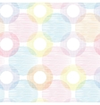 Colorful textile circles seamless patter vector image vector image