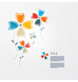 Abstract Paper Flowers vector image