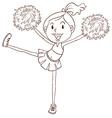 A simple sketch of a cheerleader vector image