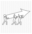Teamwork icon design vector image