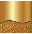 abstract gold background with curve and foil vector image