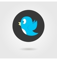 blue birdy in black circle vector image
