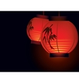 Chinese paper lantern vector image