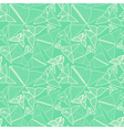 Pattern with beautiful origami butterflies drawing vector image