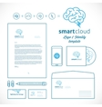 Smart Cloud Logo and Identity Template vector image