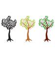 tree flowering set vector image