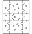 white puzzle 1 vector image