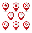 Set of 3D pointer with the navigation icons vector image