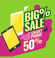 poster most selling smartphones with a percent vector image