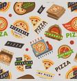 delivery pizza logo badge pizzeria restaurant vector image