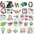 Mega collection of various web infographics vector image