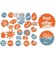 cute shopping stickers vector image vector image