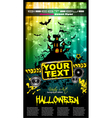 hallowen party flyer vector image