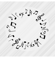 musical icon design vector image