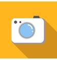 Camera colored flat icon vector image