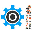 cogwheel icon with love bonus vector image