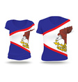 Flag shirt design of American Samoa vector image