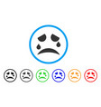 tears smile rounded icon vector image