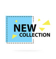 trendy modern geometric sale badge labels vector image