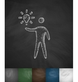 man and light bulb icon vector image