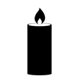 Icon candle vector image
