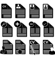 CV icons set vector image