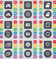 Gamepad Compass Cloud SMS Camera File Gallery Gear vector image