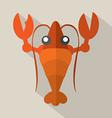 Flat Design Shrimp Icon vector image vector image