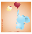 Cute Animals Collection Love is all around 4 vector image