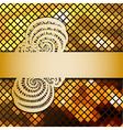 mosaic and ribbon vector image vector image