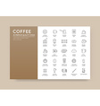 Set of Thin Coffee Elements and Coffee Accessories vector image