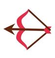 arch arrow cupid icon vector image